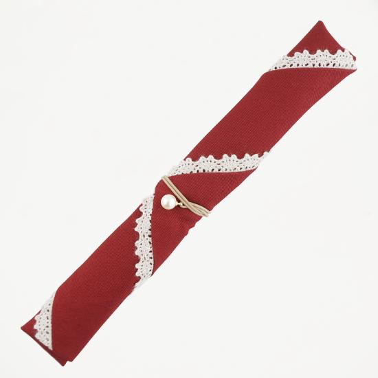 三角タイプ箸袋 レース(赤)