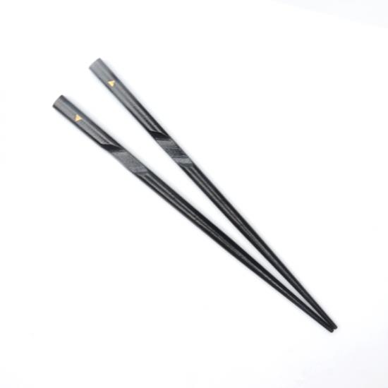 【左利き用】箸使いカラー 黒漆(16cm)