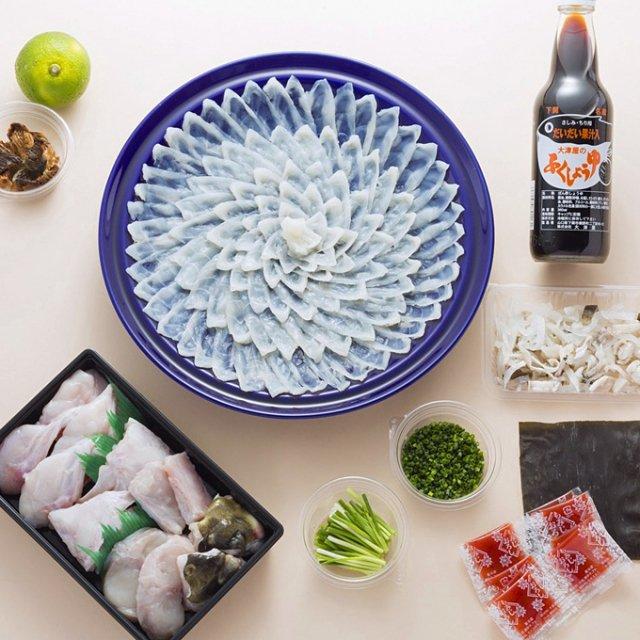 【送料無料】とらふく料理セット(小)2〜3人前 ふく刺&鍋セット