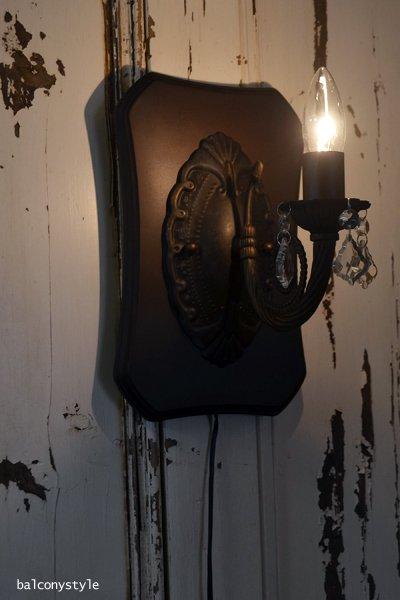 工事不要壁掛け式シャンデリアタイプ照明ブラウンLED対応