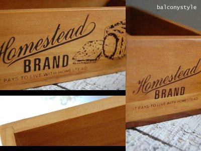 Homestaedの木箱BRAND BOXスリムな形