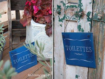 シンプルで小型TOILETTES トワレット ブルーサイン