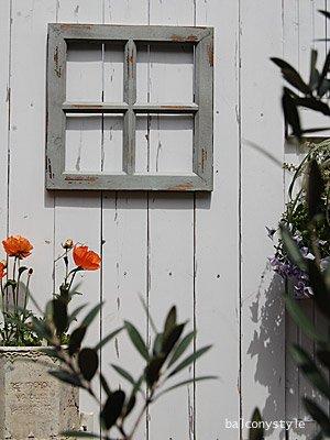 アンティークの窓のようなデコレーション用木製格子ウィンドブルーウィンドフレーム