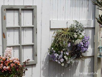 アンティークの窓のようなデコレーション用木製格子窓ウィンドブルーのレクトウィンドフレーム