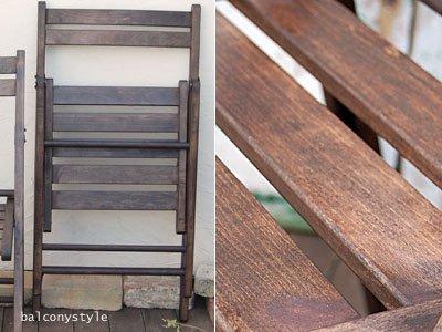 木製フォールディングチェアブラウンガーデンチェア