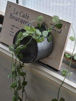 アーティフィシャルグリーンハートカズラ室内・ベランダのデコレーションに便利なフェイクグリーン