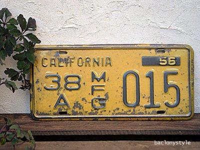 車のアンティークナンバープレート風ブリキ・サインプレート