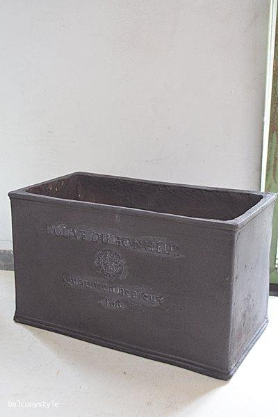 グラスファイバー製軽量大型ポット オリーブドボヌール ボックス チャコール