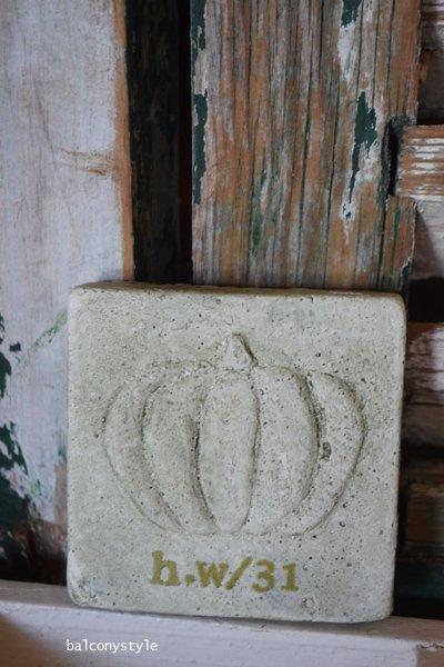タイルパンプキン陶器プレート