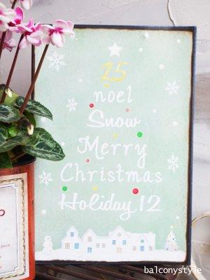小型サイズのブリキのクリスマスサインプレート