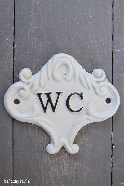 アイアンサインプレートCASTING SIGN WC