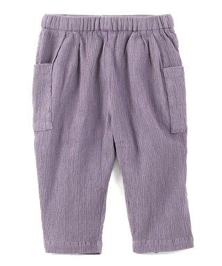 子供 自然シボ パンツ 紫鼠