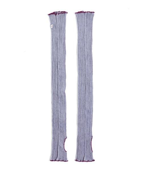uv アームカバー 紫鼠
