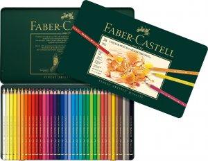 ファーバーカステル ポリクロモス色鉛筆 缶入り36色セット 商品番号550、