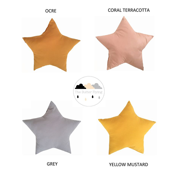 the butter flying 星のクッション Star cushion
