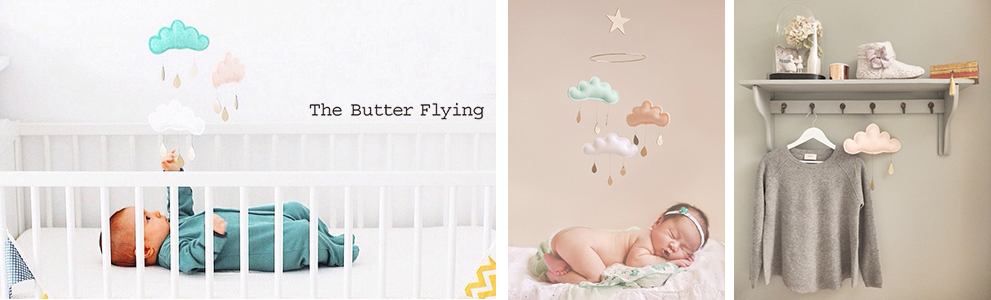 the butter flying ベッドメリー モビール 出産祝い