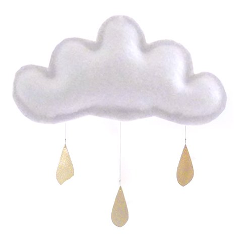 Spring Cloud mobile (light grey) by The Butter Flying