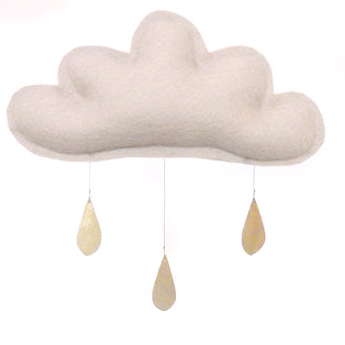 Spring Cloud mobile (light taupe) by The Butter Flying