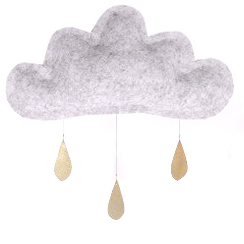 Spring Cloud mobile (smoked grey) by The Butter Flying