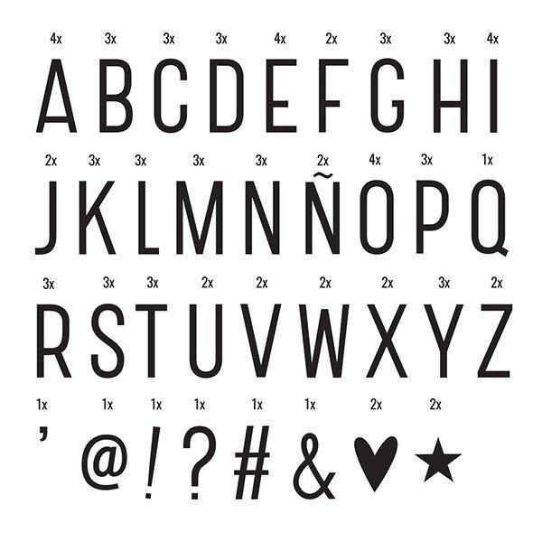 Light Box Letter set BASIC  by A Little Lovely Company