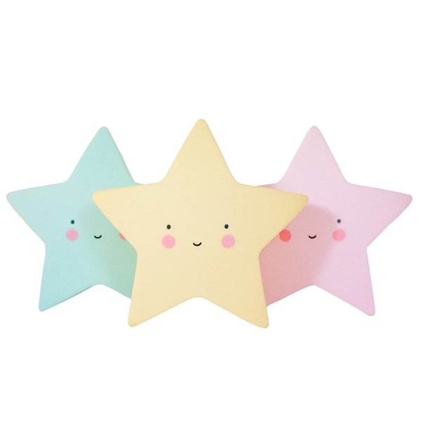 <img class='new_mark_img1' src='https://img.shop-pro.jp/img/new/icons57.gif' style='border:none;display:inline;margin:0px;padding:0px;width:auto;' />Mini Star Lights (yellow/pink/mint) by A Little Lovely Company
