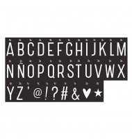 Light Box Letter set Monochrome  by A Little Lovely Company