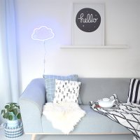 【SALE 50%off】【送料無料】LEDネオンスタイルライト(cloud/blue) by A Little Lovely Company