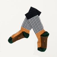 grid & lines high socks (1-4Y)by tinycottons