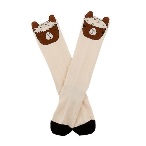 llama heads high socks (6m-4Y)by tinycottons