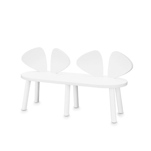 Mouse Bench (white) by Nofred