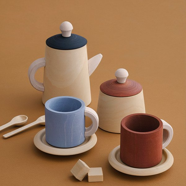 Tea set (terra & blue) by Raduga Grez