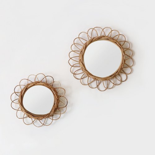 <img class='new_mark_img1' src='https://img.shop-pro.jp/img/new/icons57.gif' style='border:none;display:inline;margin:0px;padding:0px;width:auto;' />Rattan Flower Mirror ( S / L )