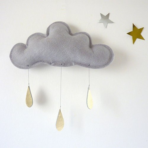 Spring Cloud mobile (grey) by The Butter Flying