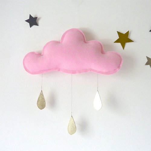 Spring Cloud mobile (pink) by The Butter Flying