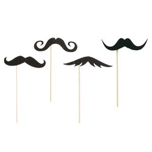 Photo Props Mustaches by MUSTACHE AND LIPS
