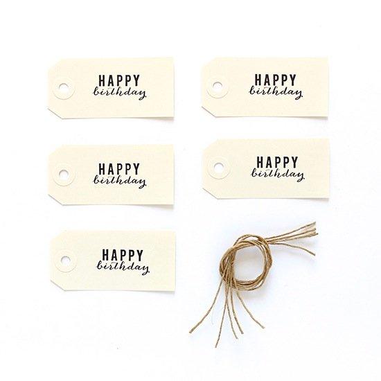 ギフトタグ HAPPY BIRTHDAY 5枚入 by CINQMAI