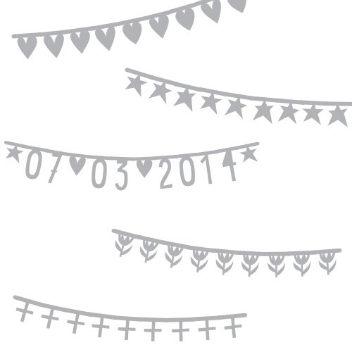 【期間限定送料無料】Basic Banner Silver by A little Lovely Company