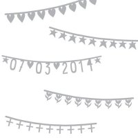 【SALE 70%off】Basic Banner Silver by A little Lovely Company