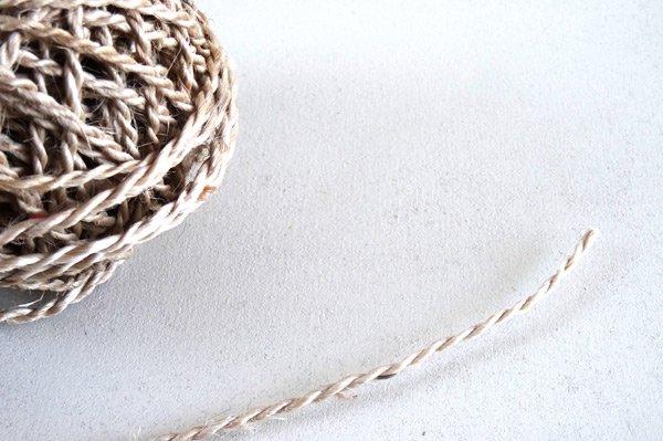 ジュート麻ひも糸 ラッピング紐 ナチュラル