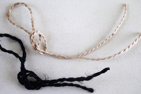 ジュート麻ひも糸 ラッピング紐 ブラック