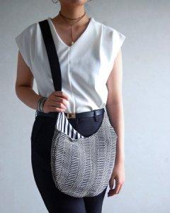 Body Bag  ボディバッグ Grosgrain (グログラン×ブロックストライプ)