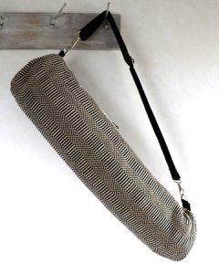 ヨガバッグ(ヨガマットケース)  手織ジュート麻生地 Grosgrain