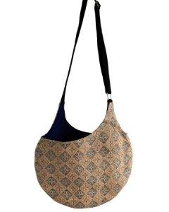 【セール】Body Bag  ボディバッグ Cross Diamond (アジュールブルー×コットンネイビー)