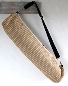 ヨガバッグ(ヨガマットケース)  手織ジュート麻生地  ジョセリンデザイン ナチュラル