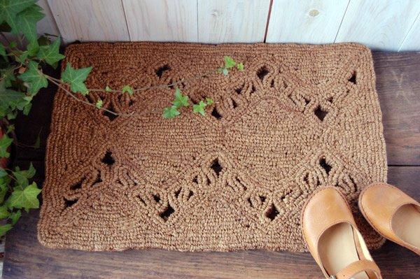 手編みココナッツコイヤーマット 玄関マット 北欧ナチュラルデザイン