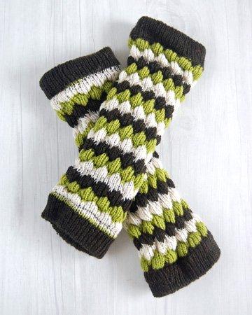手編み レッグウォーマー