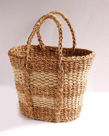 【ワケあり】大きな編みかごバッグ