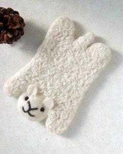 羊毛フェルト コースター アニマル【ヒツジ】