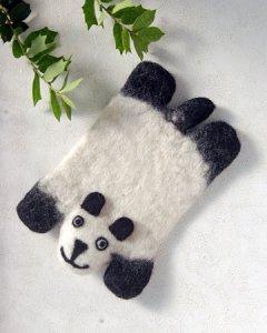 羊毛フェルト コースター アニマル【パンダ】
