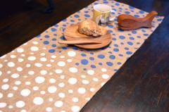 ジュート麻 ドット柄 テーブルランナー